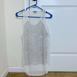 Large Lace Front Tank Top